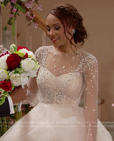Nicole's wedding dress on The Bold and the Beautiful