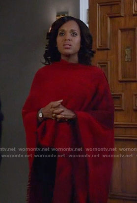Olivia's red poncho on Scandal