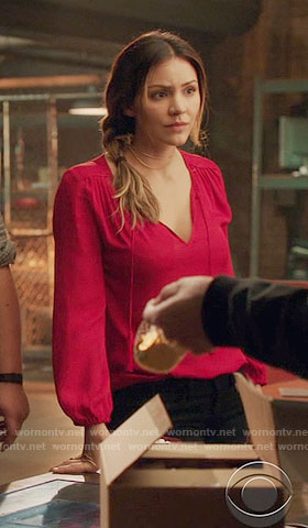 Paige's red blouse on Scorpion