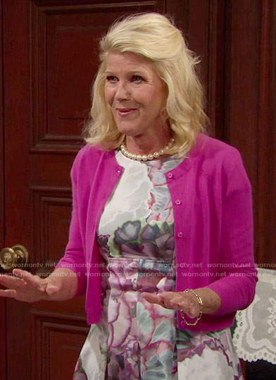 Pam's floral dress on The Bold and the Beautiful