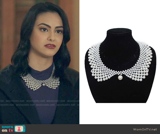 Pearl Collar Necklace worn by Veronica Lodge (Camila Mendes) on Riverdale