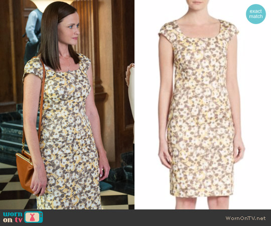 Peserico Floral-Print Cap Sleeve Sheath Dress worn by Rory Gilmore (Alexis Bledel) on Gilmore Girls