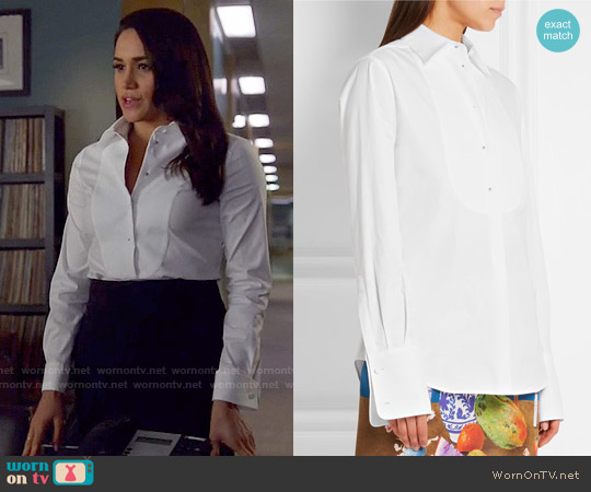 Prada Stretch Cotton-blend Shirt worn by Meghan Markle on Suits