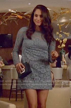 Rachel's blue lace mini dress on Suits
