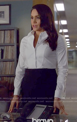 Rachel's white button down shirt on Suits