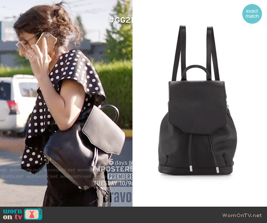 Rag & Bone Pilot Leather Backpack worn by Abby McCarthy on GG2D