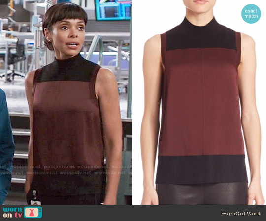 Rag & Bone Vivienne Top in Port worn by Camille Saroyan (Tamara Taylor) on Bones