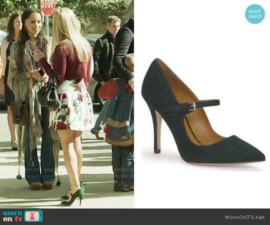 Ralph Lauren Arabella Suede Mary Jane Pumps worn by Madeline Martha Mackenzie on Big Little Lies