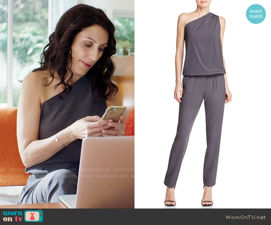 Ramy Brook Lulu Jumpsuit in Gunmetal worn by Lisa Edelstein on GG2D
