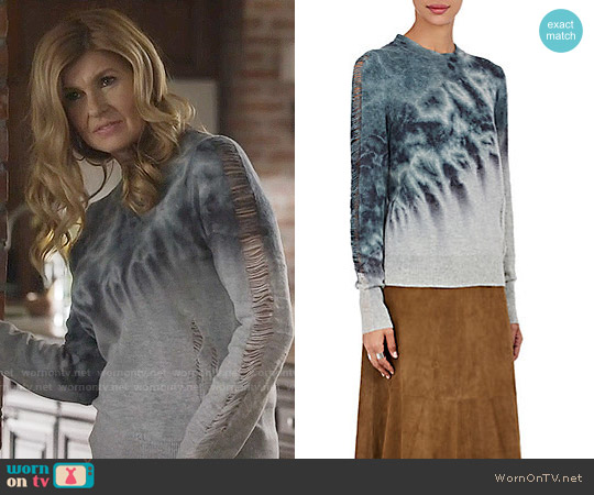 Raquel Allegra Tie Dye Distressed Sweater worn by Connie Britton on Nashville