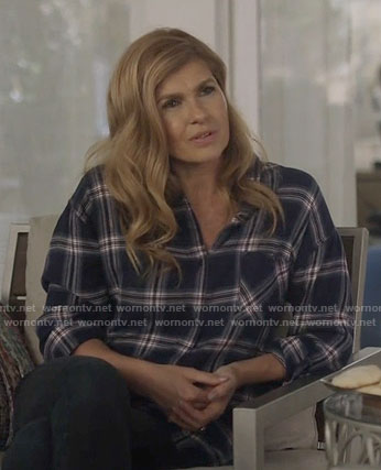 Rayna's navy plaid shirt on Nashville