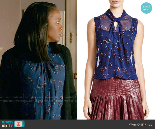 Rebecca Taylor Pinwheel Posy Top worn by Michaela Pratt (Aja Naomi King) on HTGAWM