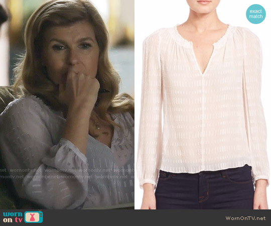 Rebecca Taylor Silk Bar Clip Blouse worn by Connie Britton on Nashville