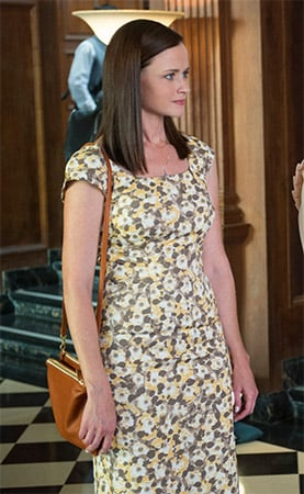 Rory's yellow floral dress on Gilmore Girls: A Year in the Life