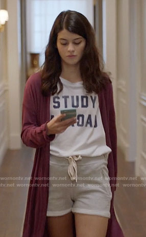 Sabrina's Study Abroad t-shirt on The Mick
