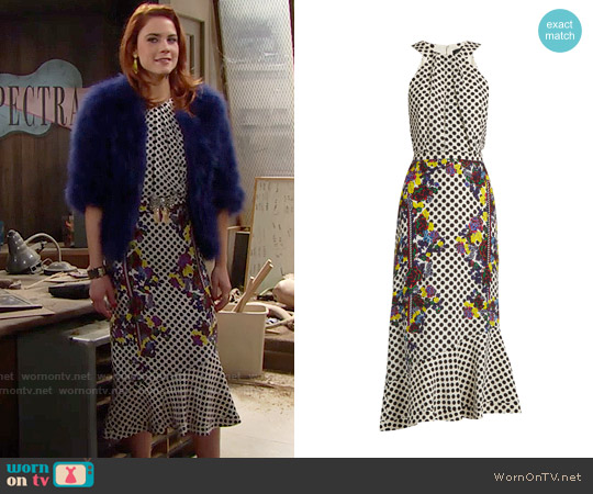 Wornontv Sally S Floral And Polka Dot Print Dress On The