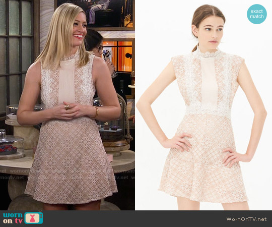 Sandro Lace Dress worn by Caroline Channing (Beth Behrs) on 2 Broke Girls