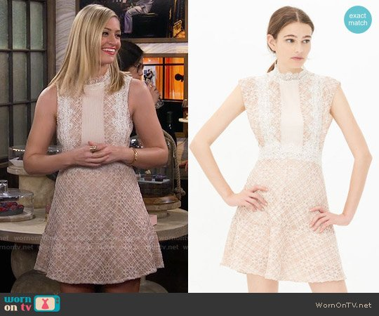 Sandro Lace Dress worn by Beth Behrs on 2 Broke Girls