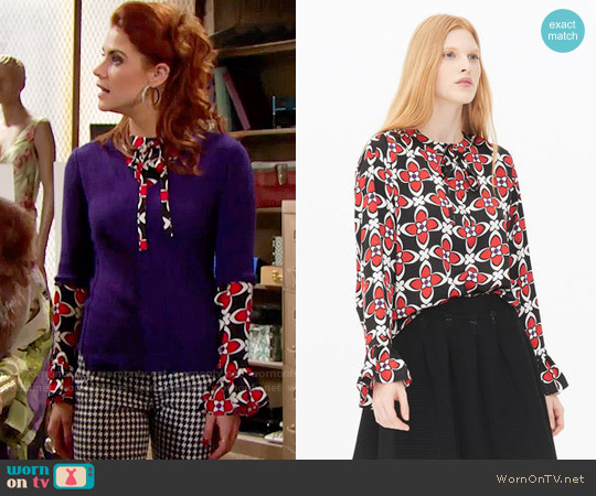 Sandro Sedgewick Top worn by Sally Spectra (Courtney Hope) on The Bold & the Beautiful