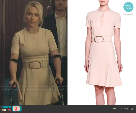 Stella McCartney Short-Sleeve Keyhole Belted Dress worn by Hayden Panettiere on Nashville