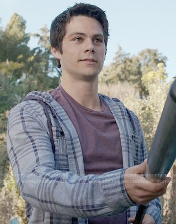 Stiles's grey checked shirt on Teen Wolf