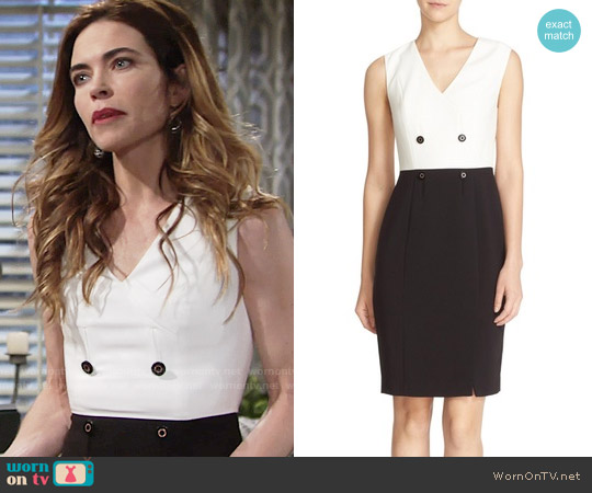 Ted Baker 'Leotaad' Double Breasted Tuxedo Dress worn by Amelia Heinle on The Young & the Restless