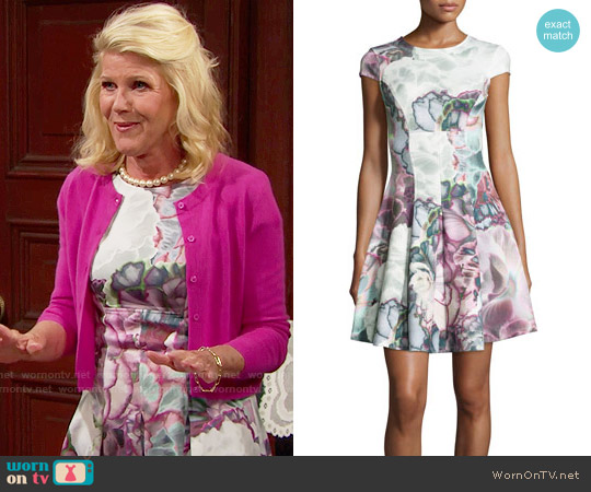 Ted Baker Mah Illuminated Bloom Dress worn by Alley Mills on The Bold & the Beautiful