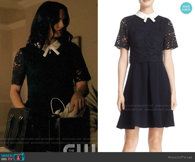 Ted Baker Dixxy Lace Dress worn by Veronica Lodge (Camila Mendes) on Riverdale