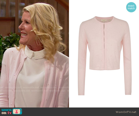 Ted Baker Zeldah Stone Detailed Cardigan worn by Pamela Douglas on The Bold & the Beautiful