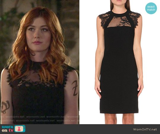 The Kooples Lace Detail Dress worn by Clary Fray (Katherine McNamara) on Shadowhunters