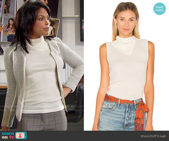 Theory Leendelle Top worn by Maya Avant on The Bold & the Beautiful