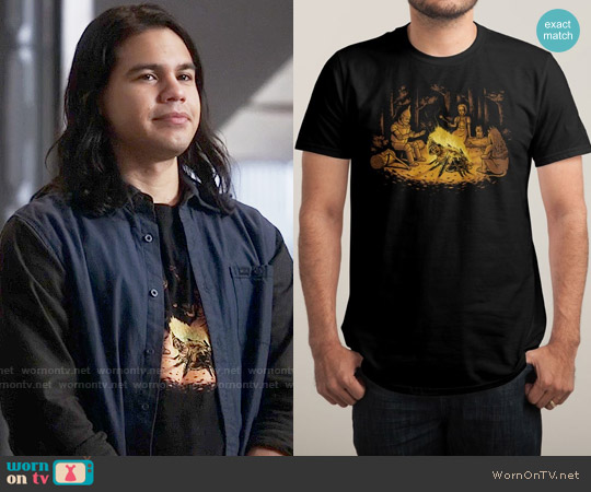Threadless Campfire T-shirt worn by Carlos Valdes on The Flash