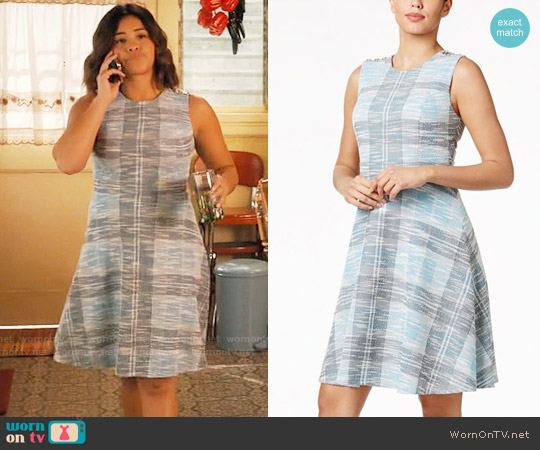 Tommy Hilfiger Tweed A-Line Dress worn by Gina Rodriguez on Jane the Virgin