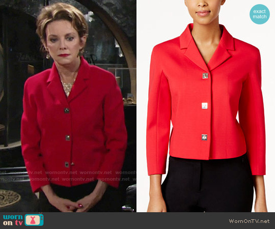 Tommy Hilfiger Turnlock Jacket worn by Gloria Abbott Bardwell (Judith Chapman) on The Young & the Restless
