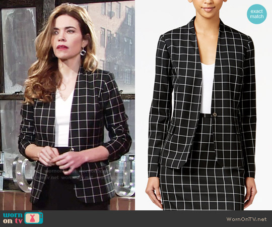 Tommy Hilfiger Windowpane Jacket worn by Amelia Heinle on The Young & the Restless