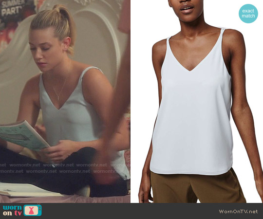 Topshop Double Strap V-Back Camisole worn by Lili Reinhart on Riverdale