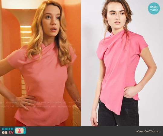 Topshop Origami Top worn by Yael Grobglas on Jane the Virgin