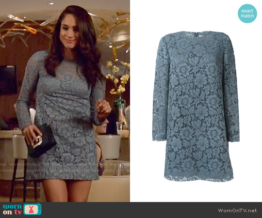 Valentino Floral Lace Dress worn by Meghan Markle on Suits