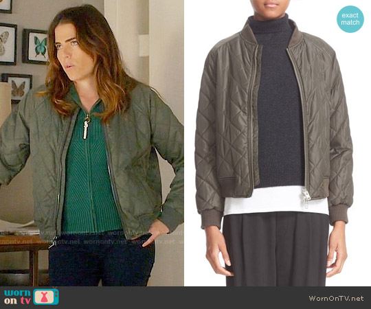 Vince Quilted Bomber Jacket worn by Laurel Castillo on HTGAWM