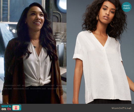 Wilfred Nobel Blouse in Oak worn by Candice Patton on The Flash