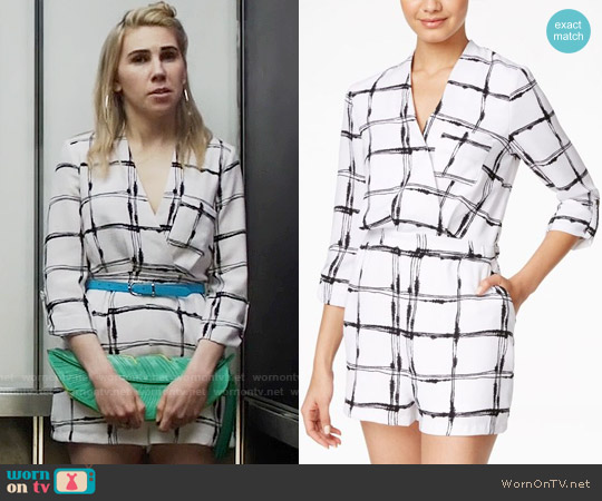 XOXO Juniors Printed Surplice Romper worn by Zosia Mamet on Girls