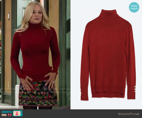 Zara Turtleneck Sweater worn by Sharon Collins on The Young & the Restless