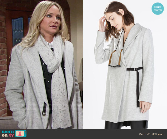 Zara Coat with Wide Collar worn by Summer Newman (Hunter King) on The Young & the Restless