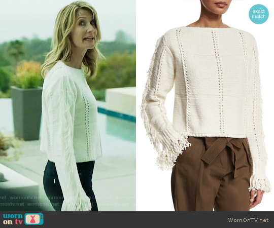 3.1 Phillip Lim Fringed Sweater worn by Renata Klein (Laura Dern) on Big Little Lies