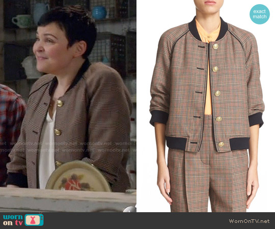 3.1 Phillip Lim Plaid Wool Bomber Jacket worn by Ginnifer Goodwin on OUAT