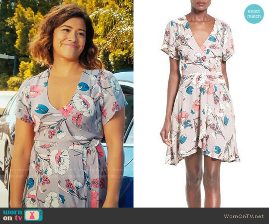 ASTR Floral Print Wrap Dress worn by Jane Villanueva (Gina Rodriguez) on Jane the Virgin
