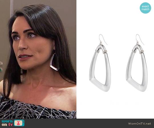 Alexis Bittar Asymmetrical Wire Earring worn by Quinn Fuller on The Bold & the Beautiful