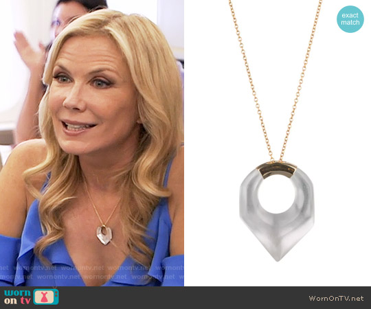 Alexis Bittar Faceted Pentagon Pendant Necklace worn by Brooke Logan on The Bold & the Beautiful