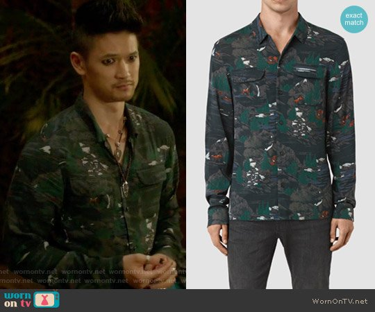 Redfern shirt by All Saints worn by Magnus Bane (Harry Shum Jr.) on Shadowhunters