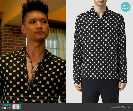 Inkblot Shirt by All Saints worn by Harry Shum Jr. on Shadowhunters